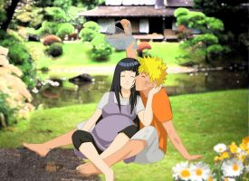 Watering Flowers - NaruHina by MajinLu