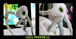 murloc sculpture in progress by 95n