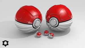 [3D] Deluxe Pokeball by LiberiArcano