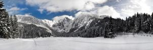 winter wonderland panorama by Jamest4all