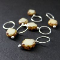 Mushroom Bead Stitch Markers by Gilliauna