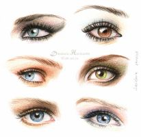 Eyes and make-up ii by dh6art
