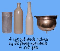 Four Cut-out Objects by 333half-evil-stock