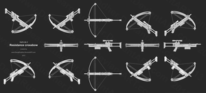Resistance crossbow ortho views by DeargRuadher