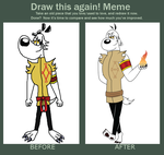 Draw This Again Fire Dudley by ChameleonCove