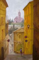 Narrow Street Siena, Toscany by THMarcondes