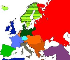 1936  Alternate Europe  map. by Hichii-Chan