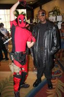 AFO 2012: Deadpool and Nick Fury by pgw-Chaos
