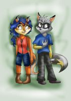 CooperFox Twins: Kali and Wade by Moon-Shyne