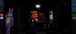 Five Nights at Freddy's MMD Stage [DL RESTORED] by xXMewMellowXx