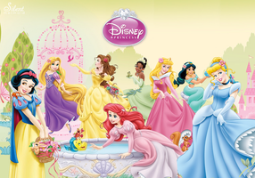 Disney Princesses - Garden of Beauty by SilentMermaid21