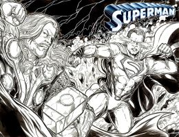 Superman sketch cover Thor by ElvinHernandez