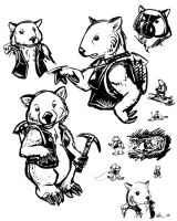 Wombat Sketches by ursulav