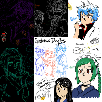 Gintama doodles pt1 by choco-crystal