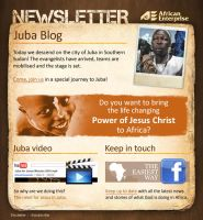 Newsletter for an African city by floydworx