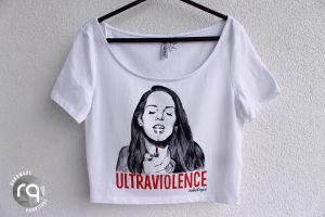 Ultraviolence crop top by robotiqueshop
