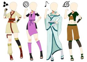 Naruto Outfits Adoptables-(CLOSED ALL) by Amabyllis