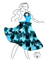 Blue Rivet- dress design by Pearllight180