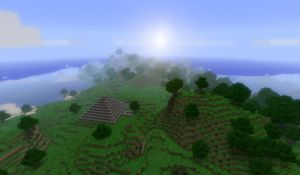 Minecraft horizon by SolidAlexei