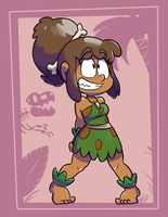 Taka the Curious Cavegirl by Jurassiczalar