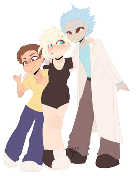 .:COMMISSION:. Wubba Lubba Dub Dub by Drawing-Heart