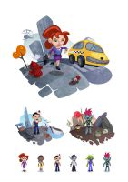 Flash Game Characters by panvix
