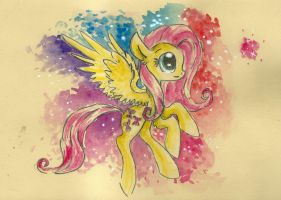Fluttering with watercolours by smartMeggie