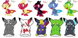 Mixed adopts 4 ::OPEN:: by DappleFeather