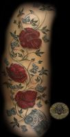 Poppy Flower Camera white by 2Face-Tattoo