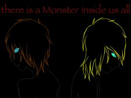 There is a Monster inside us all (hair/atomy test) by AdmiinGhost