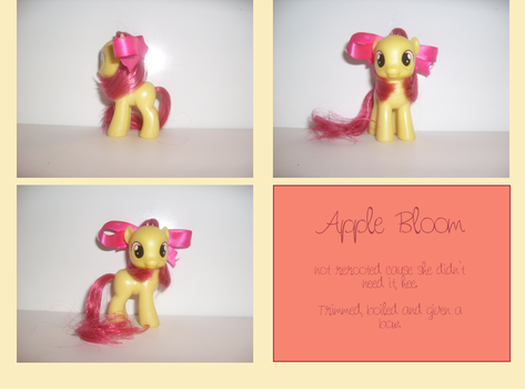 Apple Bloom, styled and bowed by bonecake
