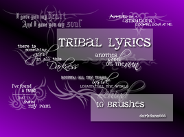 Tribal lyrics, text brushes by darkdana666
