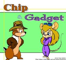 Chip and Gadget by Jorge-the-Wolfdog