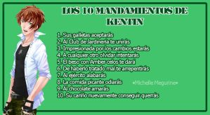 10 Mandamientos de Kentin by MichelleMegurine