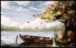 Autumn at the lake by Medhi