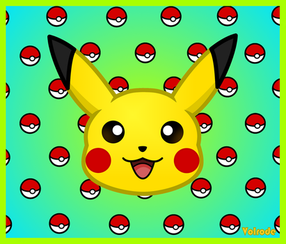 Pikachu Head and pokeball template by Volrode
