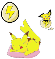 Sleepy Pikachu - Squiby by unkn0wn300