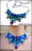 Purple and Royal Blue Gems by Natalie526