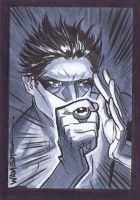 Green Lantern Sketchcard by jeffwamester
