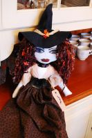 New Gothic Witch Rag Doll by DollzMaker