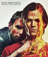supernatural sam and lucifer by Peace4all