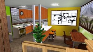 Sims 3 house Kitchen by MarosStefanovic