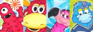 Mascot ATCs by Neillustrations