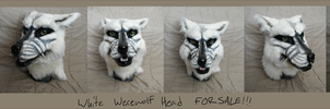 White Werewolf Head SOLD by PyroFishies