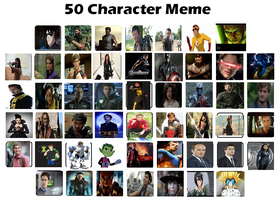 50 Characters Meme by ViperPeggy