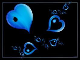 Hearts so Blue by FractalEyes