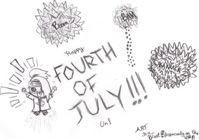 HAPPY 4TH OF JULY, UN by Mellonychan