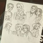 Les Miserables Sketchpage by RainyGravie