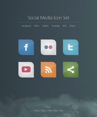 Social Media Icons by vanessabanessa89
