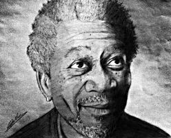 morgan freeman by bahysaid